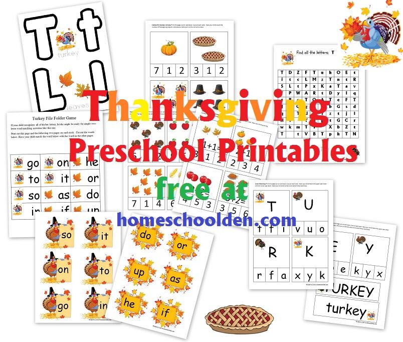 Thanksgiving-Preschool-Printables