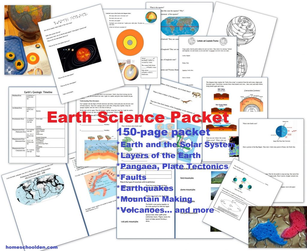 Earth Science Unit - Layers of the Earth Activities Types of Volcanoes Worksheets - Interactive Notebook Pages