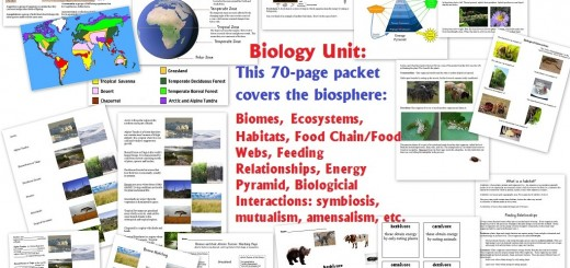 Biology Unit - biomes biological interactions