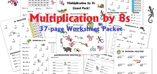 Multiplication by 8s Worksheet Packet