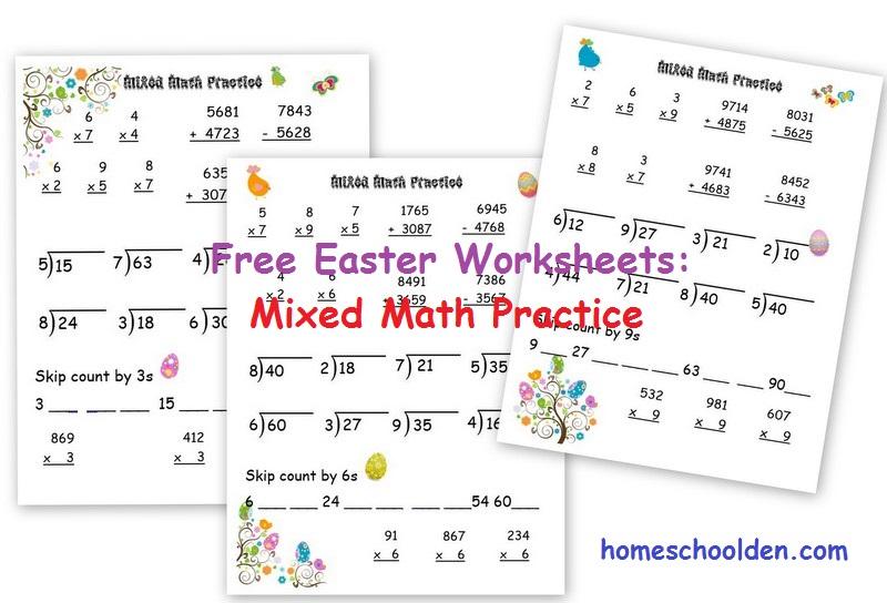 Free Easter Math Worksheets Homeschool Den