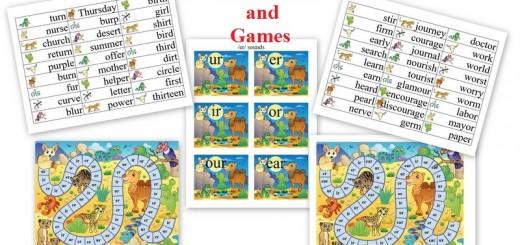 er Sound Spelling sort and games