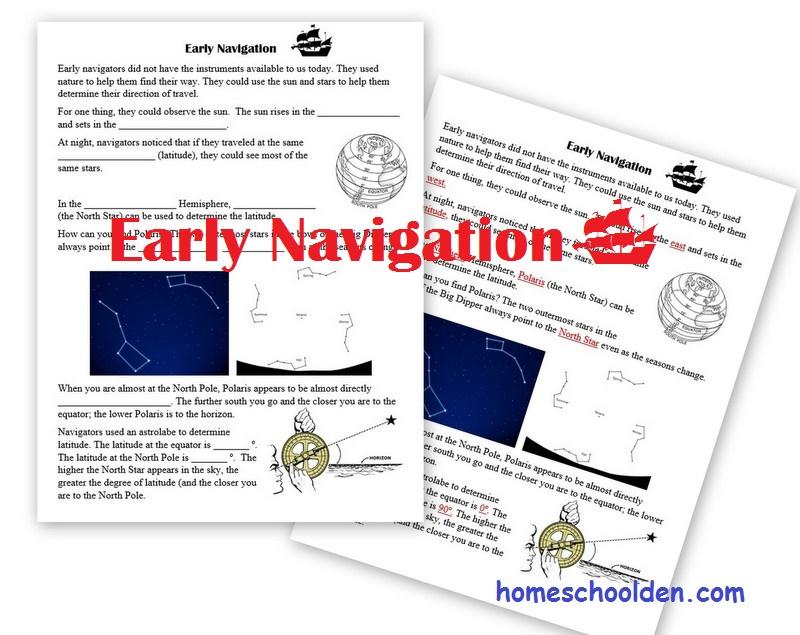 ocean navigation hands on activity homeschool den. Black Bedroom Furniture Sets. Home Design Ideas