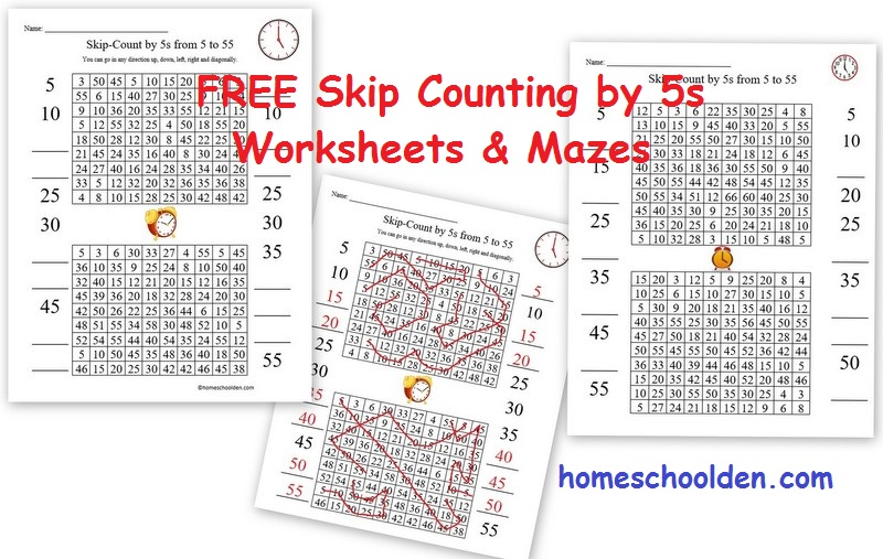 Free Clock Printable – Free Skip Counting by 5s Activities ...