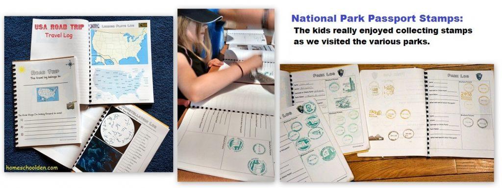 national park passport stamps travel log