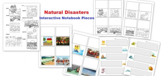 Natural Disasters Interactive Notebook Pages