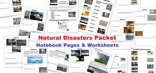 Natural Disasters Worksheets