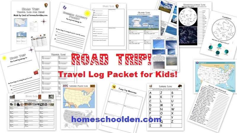 Summer Travel Log Printable (Free!) – Travel Ideas for Kids ...