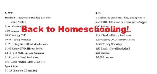Back-to-Homeschooling