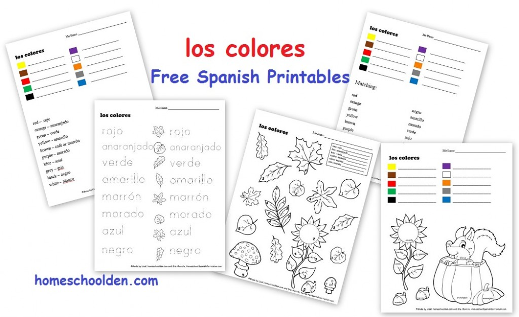 It is a graphic of Printable Spanish pertaining to middle school