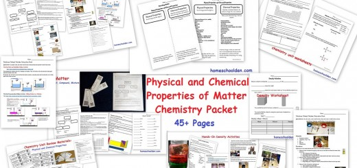 Physical and Chemical Properties of Matter Worksheets