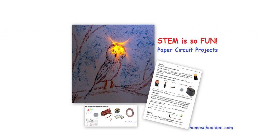 STEM! Paper Circuits (and More!) - Homeschool Den