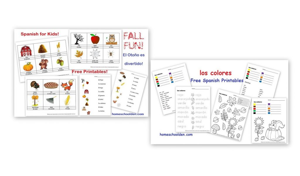 Workbooks the weather in spanish worksheets : Free Spanish Worksheets for Kids: Fall Words and Colors ...