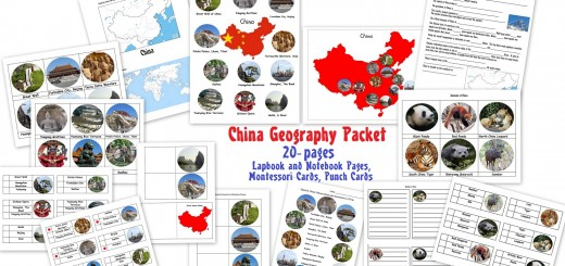 China Geography Packet