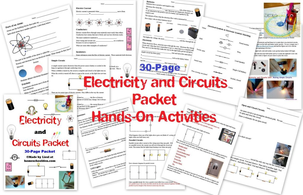 Electricity And Circuits Stem Unit Homeschool Den Electric Circuit Model