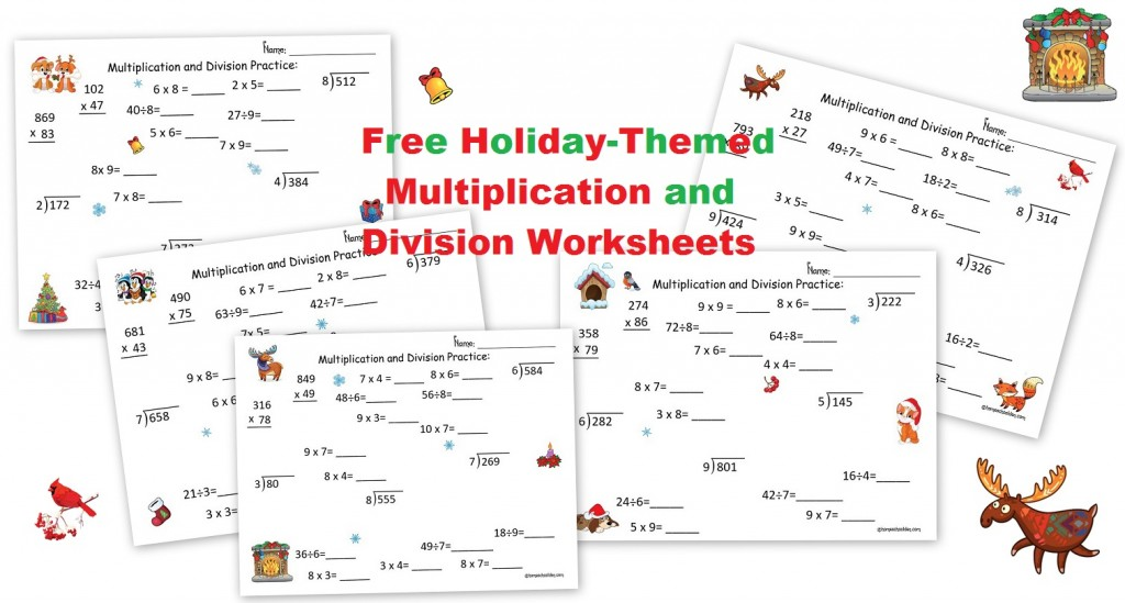Math Worksheets free holiday math worksheets : Free Multiplication and Division Holiday Math Worksheets ...