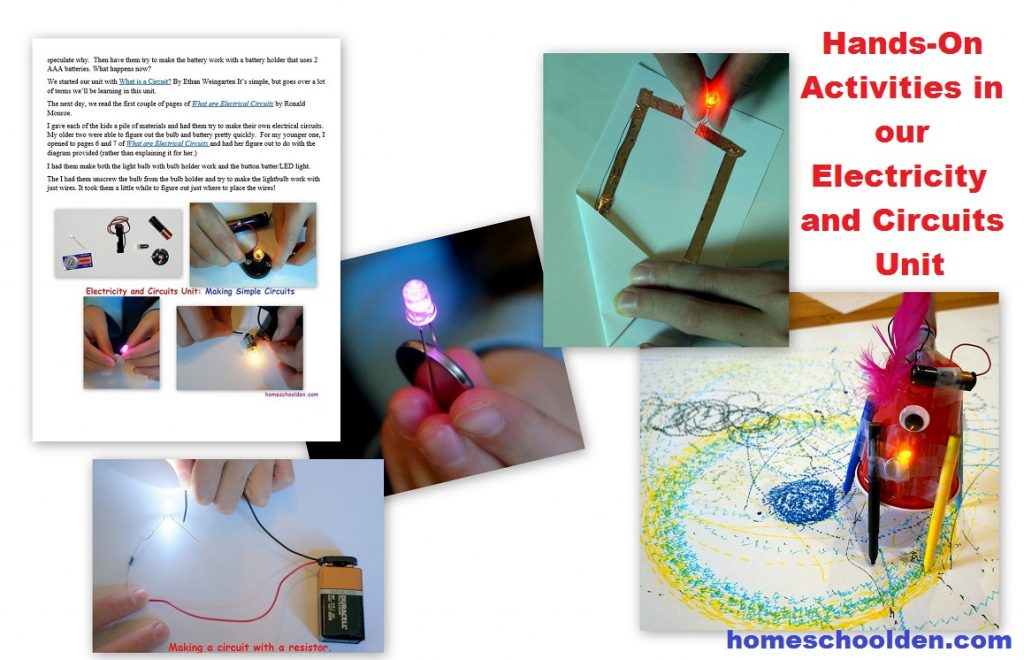 Electricity And Circuits Stem Unit Homeschool Den How To Make A Simple Circuit Hands On Projects