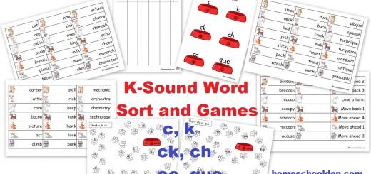 k ck c ch cc que words