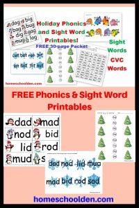 FREE Phonics & Sight Word Printables