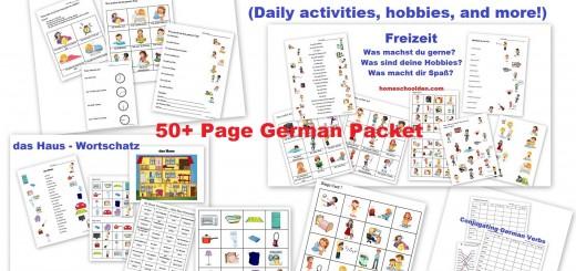 Freizeit das Haus Was machst du - German Worksheets