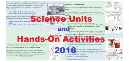Science Units Hands-On Activities Homeschool Curriculum Units