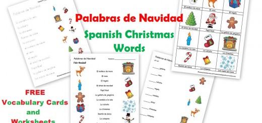 Spanish Christmas Worksheets - Palabras de Navidad