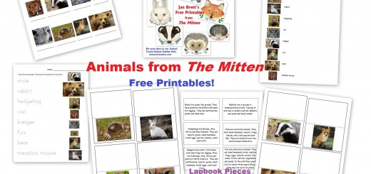 The Mitten Free Printables Animal Worksheets Lapbook