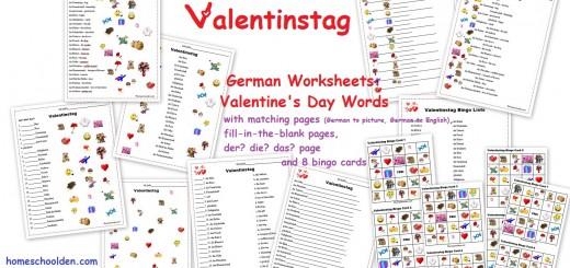 Valentinstag - German Worksheets