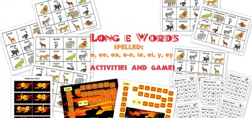 Long E-Sound Word Sort Activities and Games