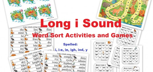 Long i words ie y i-e igh Spelling Activities