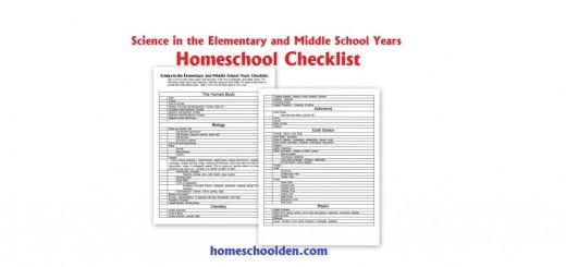 Science Unit Checklist - Homeschool