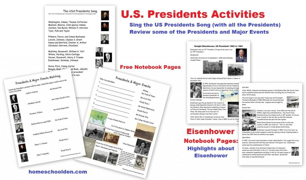 US Presidents Free Notebook Pages: Eisenhower - Homeschool Den