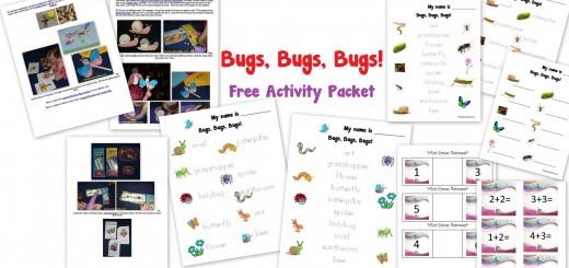 bugs worksheets activities PreK