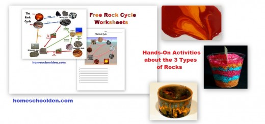 Free Rock Cycle Worksheets Hands-On Activities 3 Types of Rocks