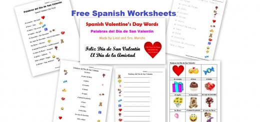 Free Spanish Worksheets - Valentines Day