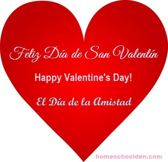 Happy Valentines Day Feliz Día De San Valentín Amistad