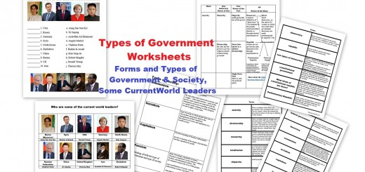 Types of Government Worksheets