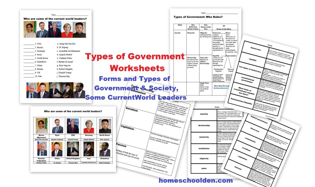 Workbooks types of government worksheets : Types of Governments Worksheets – World Leaders (Currently Free ...