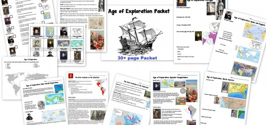 Age of Exploration Worksheets Notebook Pages