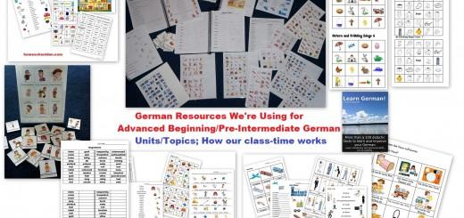 German Worksheets Advanced Beginners Intermediate