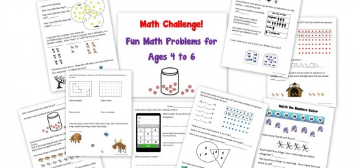 Math Challenge Worksheets Ages 4 to 6