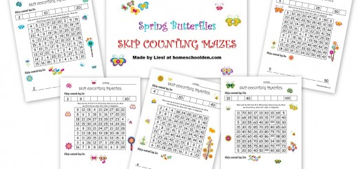 Skip Counting Worksheets 2s 3s 4s 5s 10s