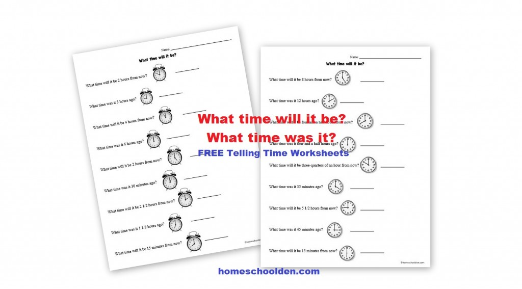 Free Telling Time – Analog Clock Worksheets - Homeschool Den