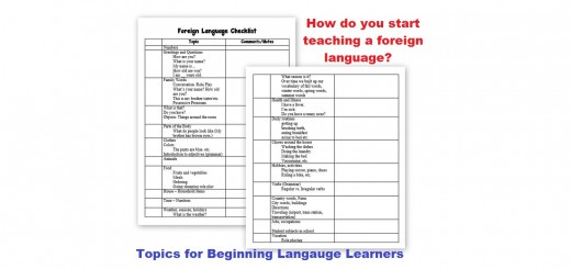 Learning a Foreign Language - homeschool