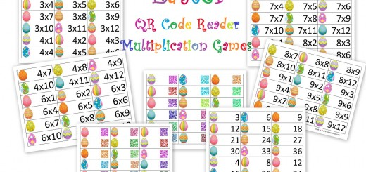 Easter QR code multiplication cards