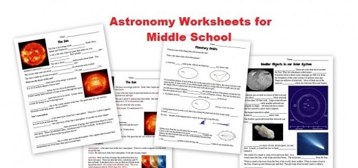 Free Astronomy Worksheets Middle School