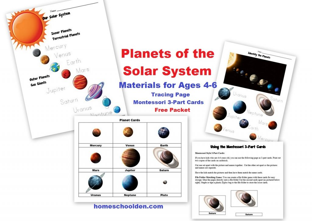 Free Planets of the Solar System Worksheets - Homeschool Den