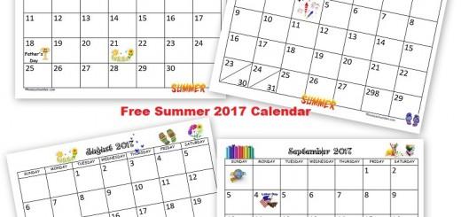 Free Summer 2017 Calendar
