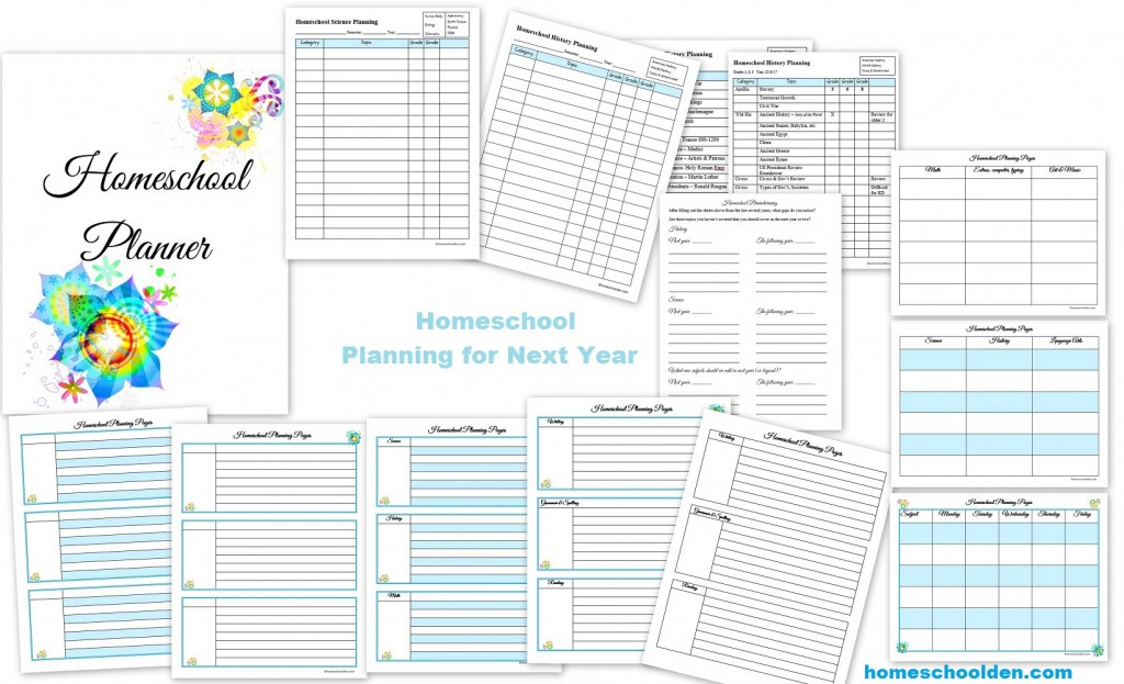 It's just a picture of Free Homeschool Planner Printable intended for printout
