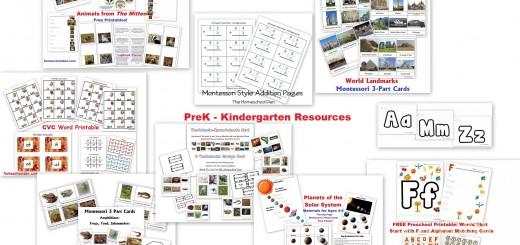Prek Kindergarten Packets and Free Resources